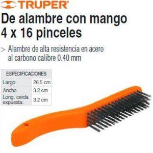 CEPILLO ALAMBRE CON MANGO 4X16 11559 TRUPER