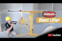 Using the Wallboard Tools Sheet Lifter